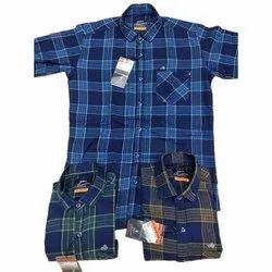 Casual Wear Checks Mens Slim Fit Cotton Checked Shirt, Machine wash, Size: S-xxl
