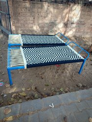 New Black And White Iron Bed Charpai, Size: 6&3&1.5