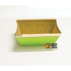 4 inches Green Rectangular Bakery Box