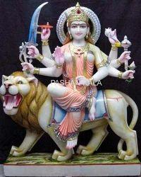 Marble Durga Goddess Statue