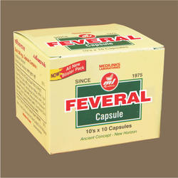 Feveral Herbal Capsule, Packaging Size: 10x10 Capsules