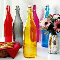 Black And Blue Colored Glass Bottles