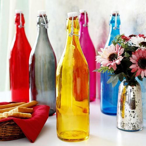 black and blue colored glass bottles - Colored Glass Bottles