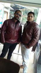 Men Leather Full Sleeve Jackets