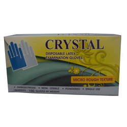 Crystal Disposable Latex Gloves, Packaging Type: Box