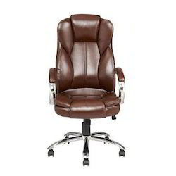 Boss Brown Leather Chair