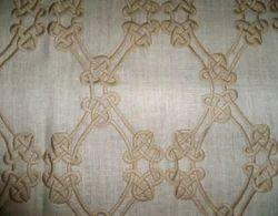 Designer Embroidered Linen Fabric