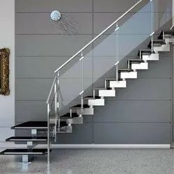 Polished Stairs Designer SS Railing, For Hotel,Home
