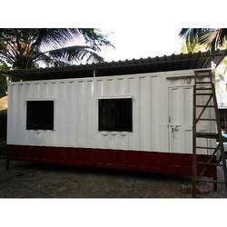 Rectangular Steel Portable Office Cabin