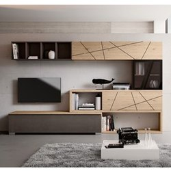 Plywood Wall Mounted Modern TV Unit, Features: Termite Free, Warranty: 5 Years