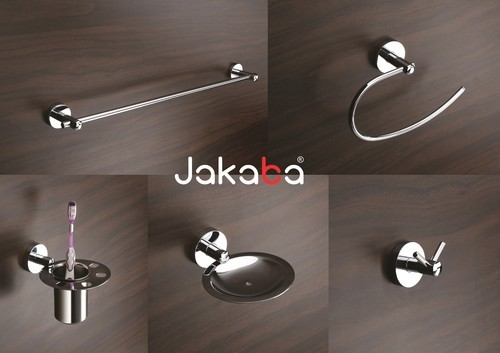 Brass Bathroom Accessories - Jakaba Rebko 5-pieces Fully