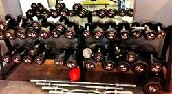 Rubber Fixed Weight DUMBBELL SUPREME ROUND, Weight: Upto 40kg