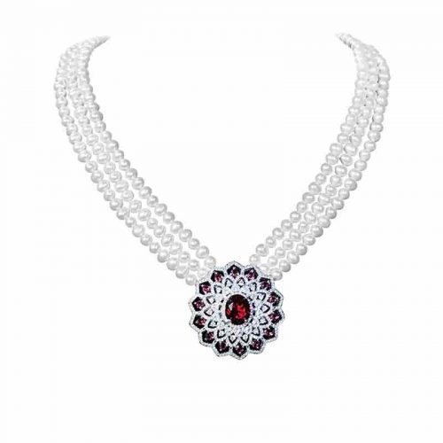 Gold pearl necklace at rs 25000 piece gold necklace set id gold pearl necklace aloadofball Gallery