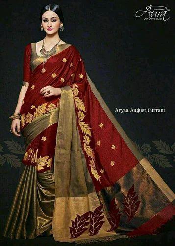 ceece5cfcb Aura Cotton Silk Bridal Wear Saree, Rs 700 /piece, Hansni Fashion ...