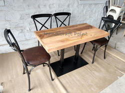 Handicraft Point Dining X Back Chair and Table Set for Home