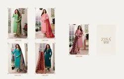 Meera Zisa Banarasi Vol 6 Hitlist Satin Georgette Salwar Kameez