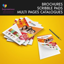 Advertisement Paper Product Catalogue and Scribble Pads Printing Services, Pan India