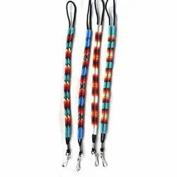 Printed 0.75 inch Beaded Lanyard, For Office