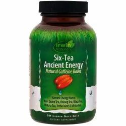 Softgel Irwin Naturals Six-Tea Ancient Energy Natural Caffeine Boost For Vitamin Deficiency