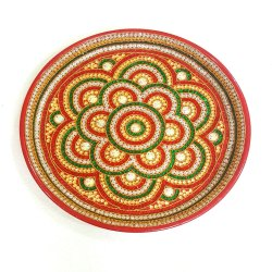 Terracotta Aarti Decoration Thali