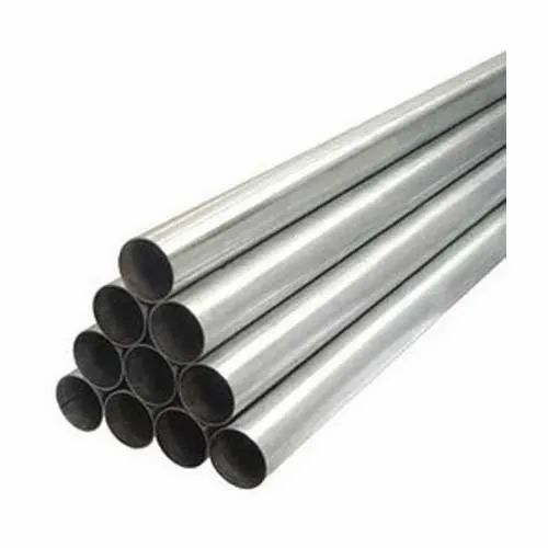 New Silver Seamless Steel Pipes, Shape: Round