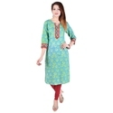 Cotton 3/4th Sleeve Party Wear Kurti