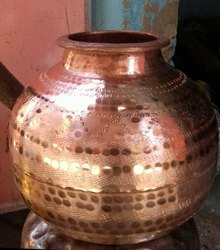 Hammered Copper Matki, For Home, Capacity: According To Size