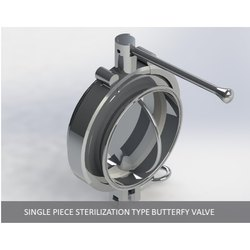 Single Piece Clamp Type Butterfly Valve