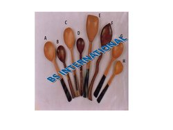 Brown Wooden Spoon for Home, Size: 5-12