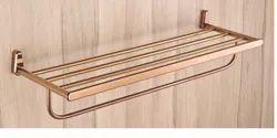 Rose Gold Brass Towel Rack, For Bathroom, Size: 24
