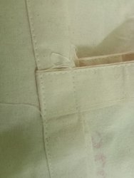 Cotton Iviry Carry Bag Fabric