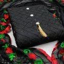 Chuddir Cotton Black Colour Dress Material (i Will Provide Costmise Stiching), Size: S-m-l-xl-xxl