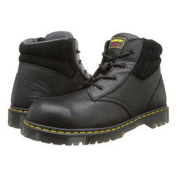Bata Leather Black & Brown Safety Shoes for Industrial