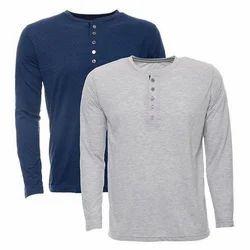 Men's Cotton Full Sleeve T-Shirt, Size: M-L