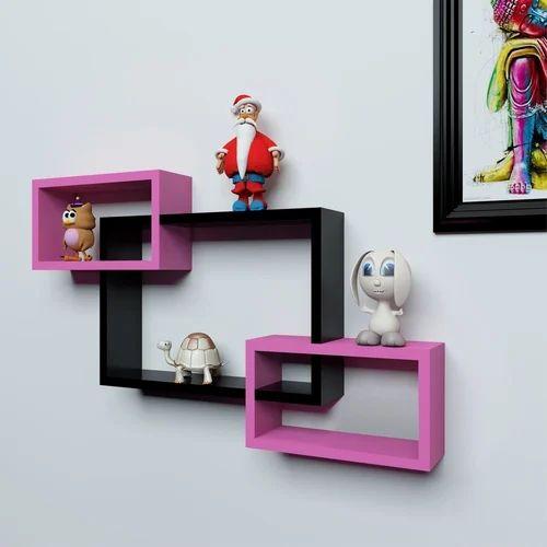 Woodworld Pink Black Home Decor