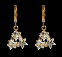 Twisted Stars Brass Drop Earring