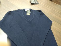 Blue Full Sleeve Uniform Woolen Sweater