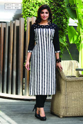 Long Straight Kurti With Cigarette Pants