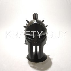 Black Krafty Guy Metal Design Helmate, Packaging Type: Box, For Decorative
