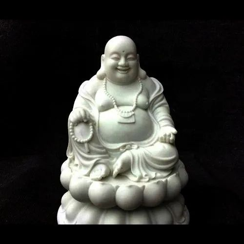 Handmade White Marble Laughing Buddha Statue, for Decoration, Rs 51000  /piece   ID: 21384054191