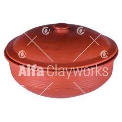 Earthen Clay Sauce Pot Large with Lid