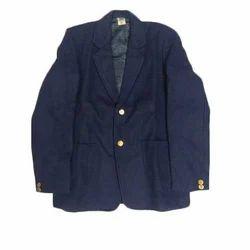Plain Full Sleeves Terrycot School Blazer