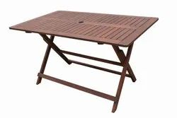 Wooden Brown folding table
