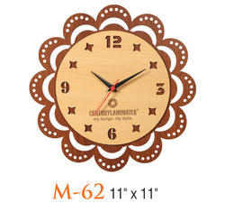 Wooden Flower Wall Clock
