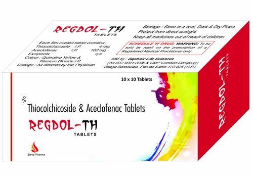 Thiocolchicoside 4 Mg  Aceclofenac 100 Tablets