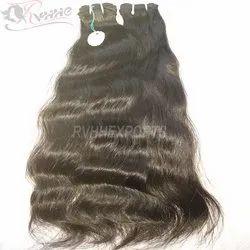 Single Drawn Remy Wavy Human Hairs