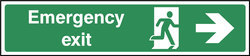 Emergency Exit Sign With Right Arrow