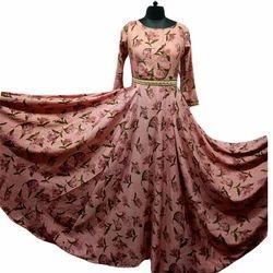 Cotton Printed Ladies Long Anarkali Kurti