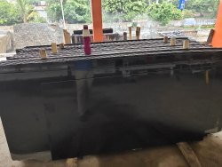 Polished Thick Slab Black Granite, For Countertops, Thickness: 15-20 mm