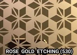 Stainless Steel Rose Gold Etching Sheets
